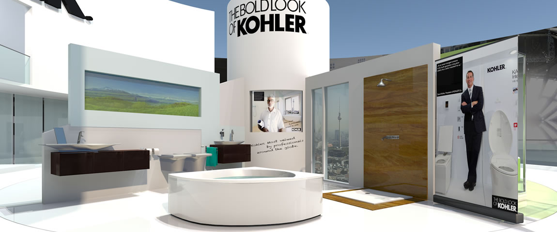 originate · 3D Visualisierung Messestand Kohler
